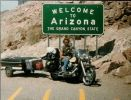 My 87 Heritage Softail and Me at the Arizona State Line