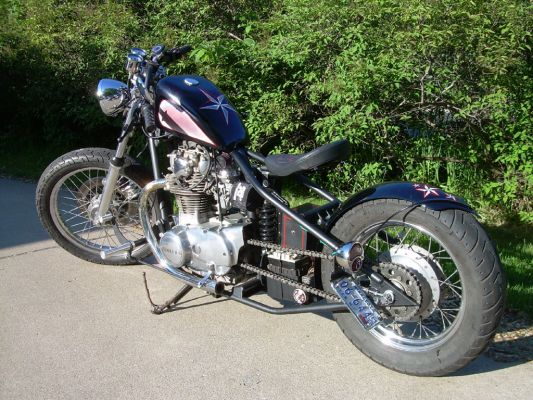 Click to view full size image  ==============  1980 scrap Finished but gotta fix a broken fender stay on the other side